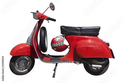 Tuinposter Scooter Vespa Special rossa