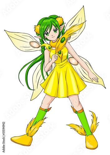 Foto auf Gartenposter Die magische Welt Fantasy illustration of a pixie