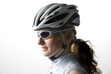 Blond Woman Biker