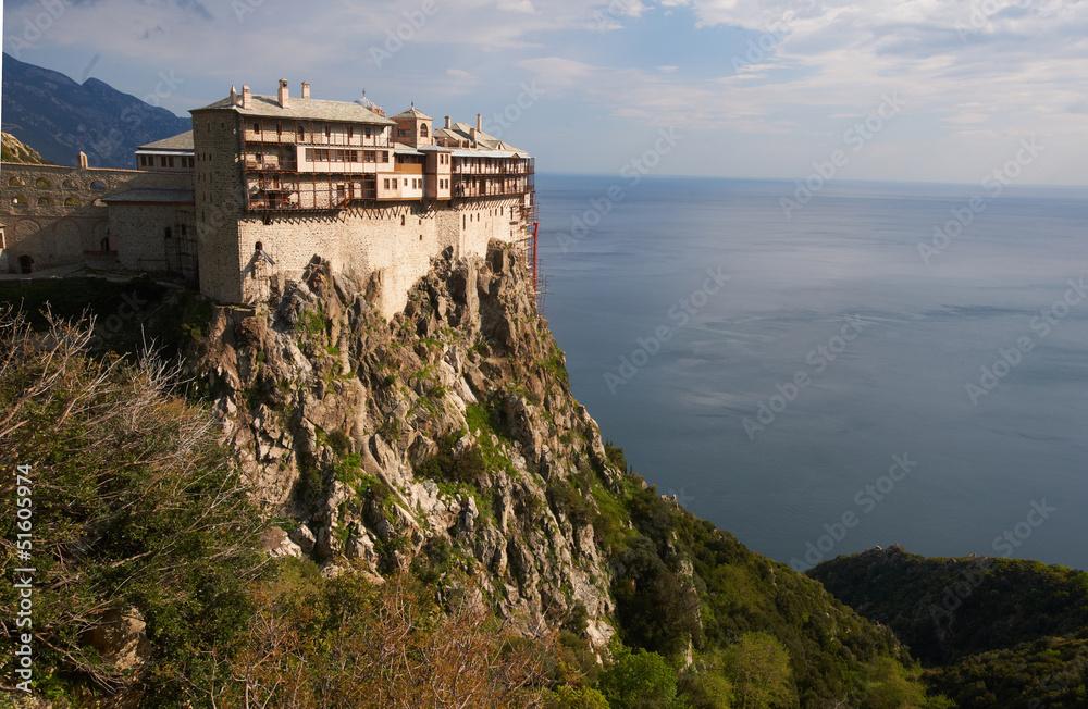 Fototapety, obrazy: Simonos Petras Monastery, Mount Athos, Greece