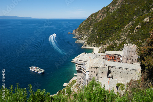 Dionysiou Monastery, Mount Athos, Greece Canvas Print