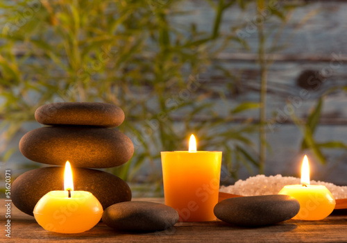 Fototapety, obrazy: Spa still life with aromatic candles