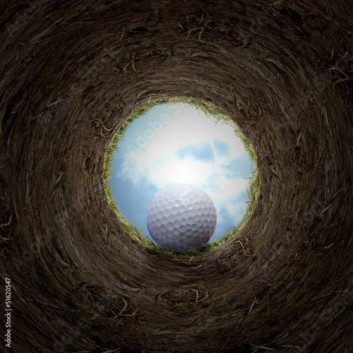 Poster Golf Golf ball