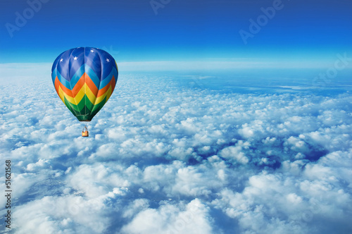 Aluminium Prints Balloon hot air balloon