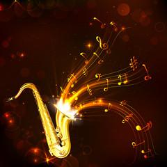 Fototapeta na wymiar Music Tune from Saxophone
