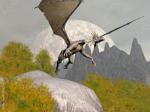 Dragon leaving - 3D render