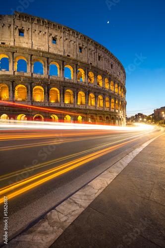 Colisée Rome Italie Tableau sur Toile