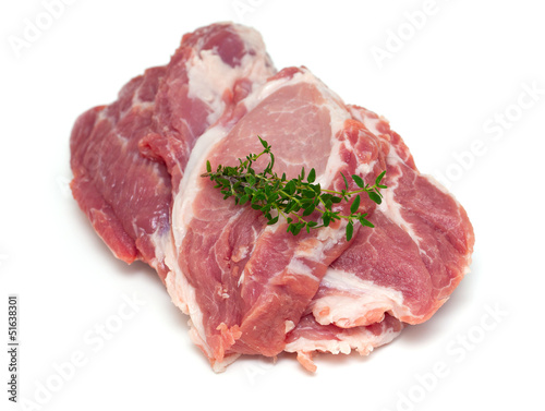 Poster Pays d Europe fresh raw pork meat