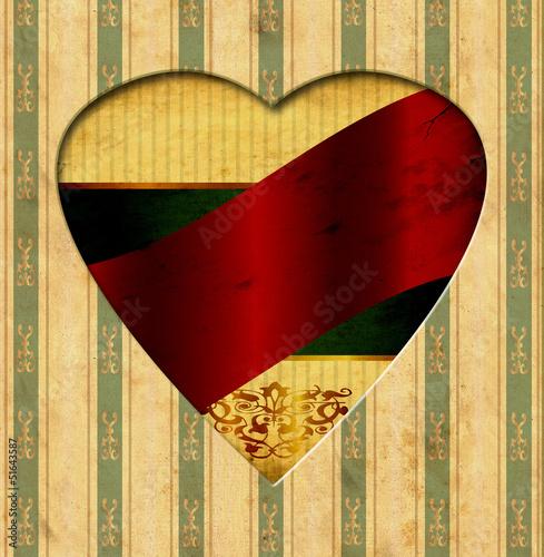 Foto op Plexiglas Vintage Poster Vintage Heart - Red Label