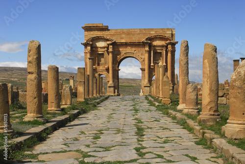 Poster Algerije Arc de Trajan-Site de Timgad-Algerie