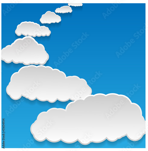 Garden Poster Heaven clouds background