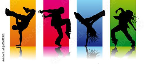 Obraz na plátne set break dancers 3