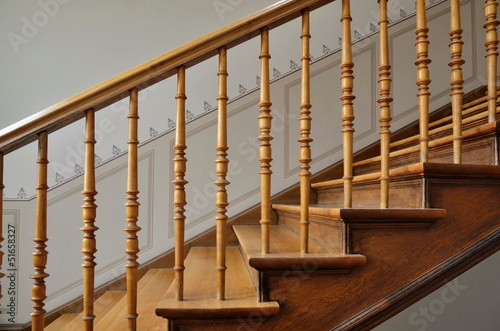 Photo Stands Stairs Holztreppe in Altbau