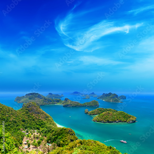 Spoed Foto op Canvas Eiland Tropical island nature, Thailand sea archipelago