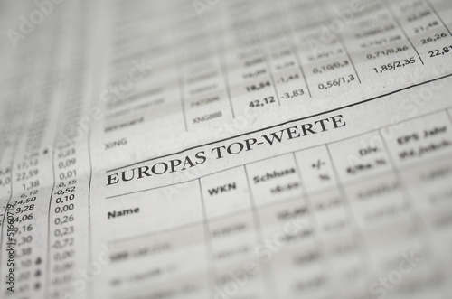 Fotografia  Aktien Top-Werte Europa