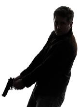 Man Killer Policeman Holding G...