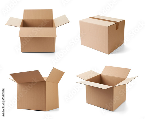 Fotografija cardboard box package moving transportation delivery