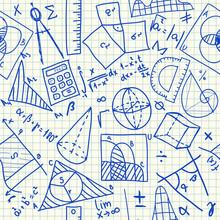 Mathematical Doodles Seamless ...