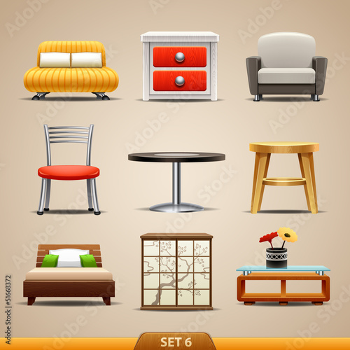 Fotografía  Furniture icons-set 6