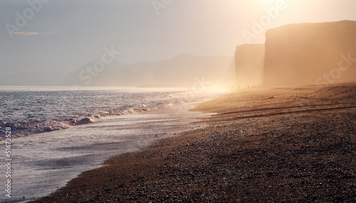Photo  burton bradstock beach