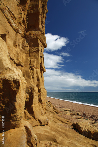 Photo  burton bradstock beach