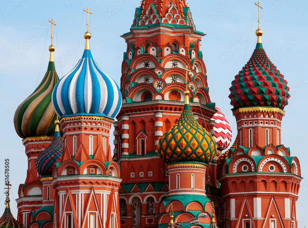 Fototapety, obrazy: Moscow Saint Basil Cathedral cupola