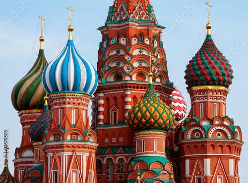 Photo  Moscow Saint Basil Cathedral cupola