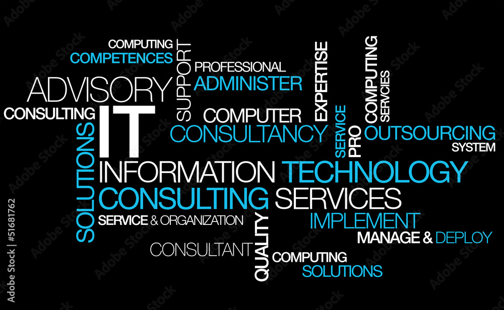 Fototapeta Information technology consulting IT computer tag cloud