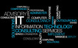 canvas print picture - Information technology consulting IT computer tag cloud