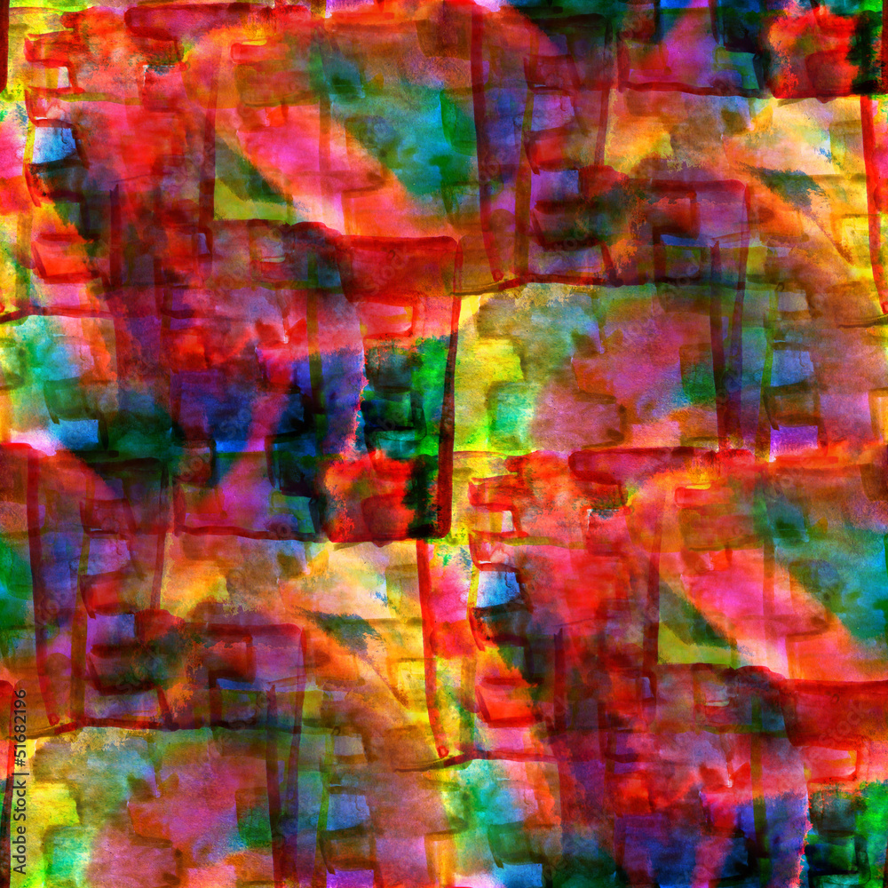 Verführerisch Kubismus Künstler Foto Von Nahtloser Rot, Grün, Gelbe Abstrakte Kunst Picasso-beschaffenheit