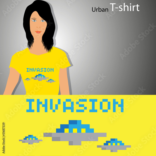 Foto op Aluminium Pixel New T-shirt design with pixel art illustration