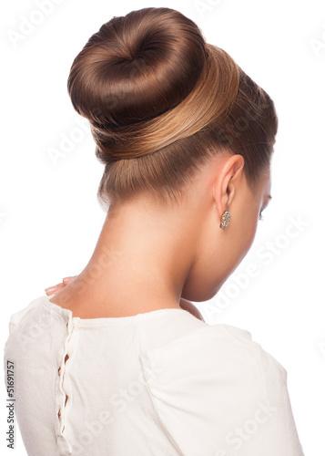 Fototapeta Woman with elegant hair bun obraz