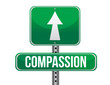 compassion road sign illustration design