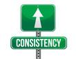 consistency road sign illustration design
