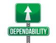 dependability road sign illustration design