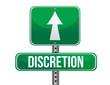 discretion road sign illustration design
