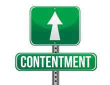 Contentment Road Sign Illustra...