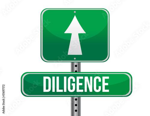 Fotografie, Obraz  diligence road sign illustration design