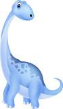 Fototapeta Dinusie - Cute dinosaur cartoon