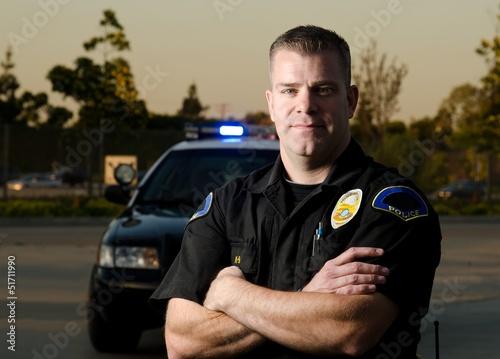 Fotografía  Oficial de policia