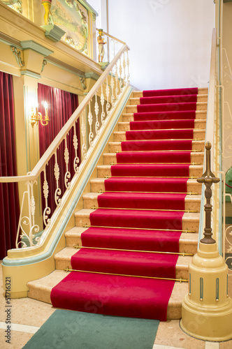 Photo Stands Stairs Red carpet on stairs