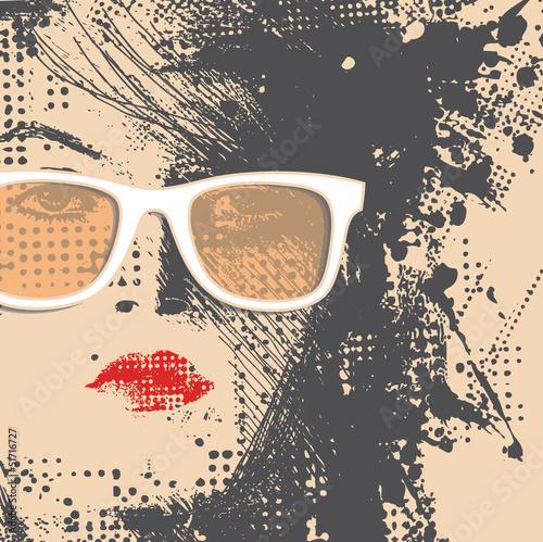 In de dag Vrouw gezicht Women in sunglasses