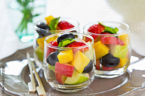 Tuinposter Dessert Fruits salad