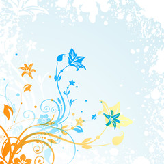Fototapeta na wymiar Abstract beautiful floral background with flowers.