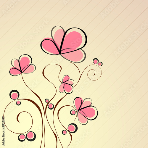 Keuken foto achterwand Abstract bloemen Abstract beautiful floral background with flowers.