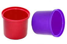 Two Red And Blue Drums