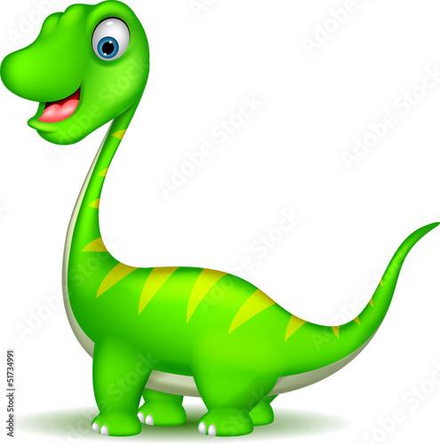 Wall Murals Dinosaurs cute Cartoon dinosaur vector