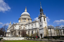 St. Paul's Cathedral And The Tower Of The Former St. Augustine C