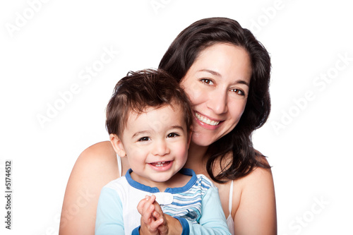 Fotografie, Obraz  Mother and baby toddler son
