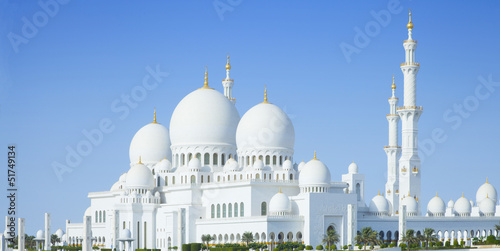 In de dag Abu Dhabi Beautiful Sheikh Zayed Mosque in Abu Dhabi city, UAE